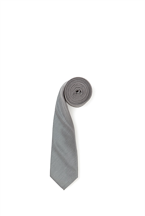 Grey Textured Tie