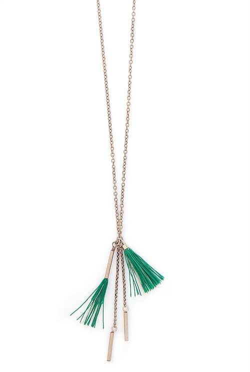 Tassel Tube Necklace