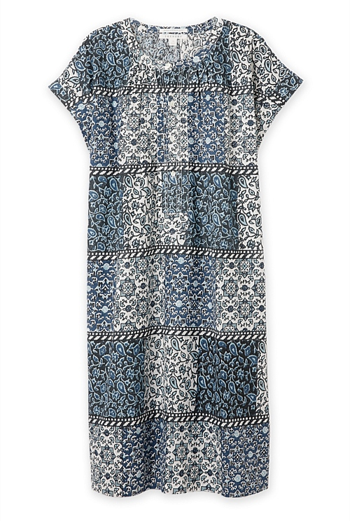 Cotton Paisley Artisan Block Printed Dress