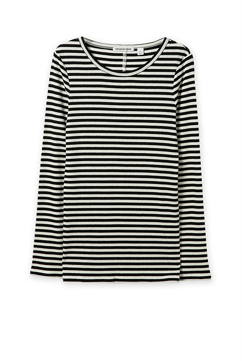 Rib Stripe Layering T-Shirt