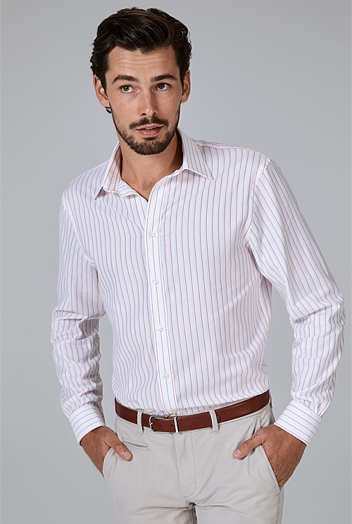 Regular Contrast Stripe Shirt