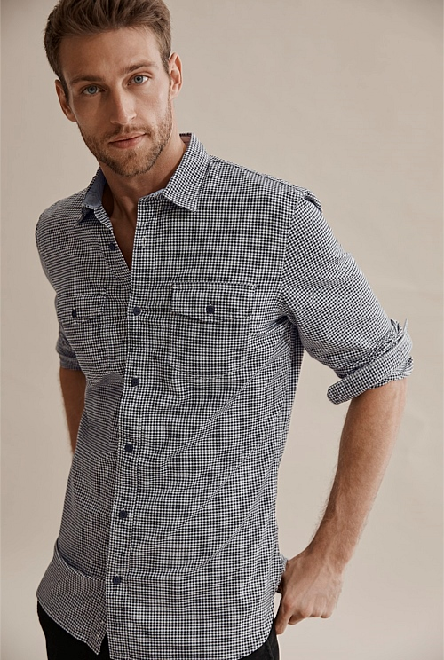 Slim Gingham Shirt