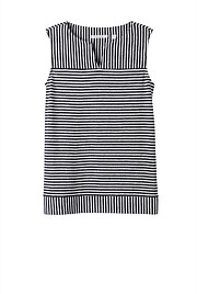 Mix Direction Striped Linen Tank