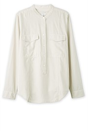 Garment Dyed Cotton Modal Shirt