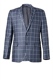Slim Windowpane Jacket
