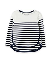 Curved Stripe T-Shirt