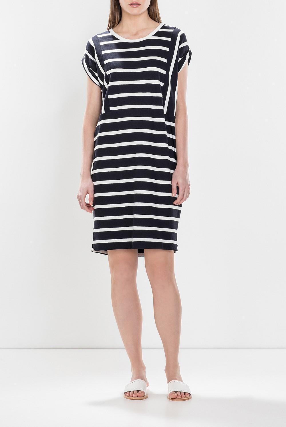 7d8a67295a Linen Cotton Striped T-Shirt Dress