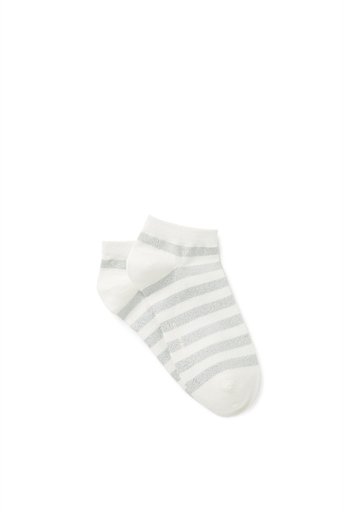 Metallic Stripe Ped Socks
