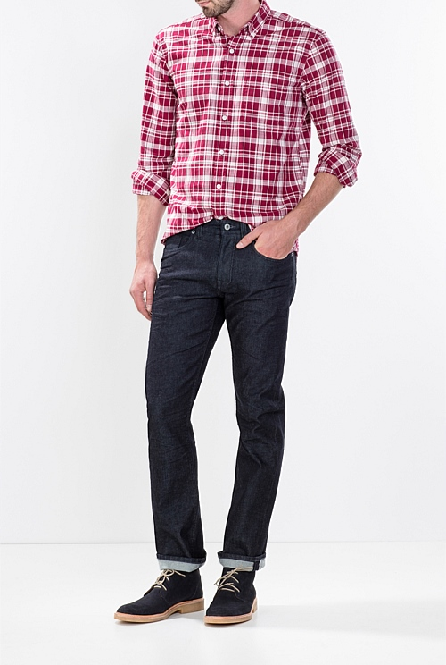 Bold Graphic Plaid Shirt